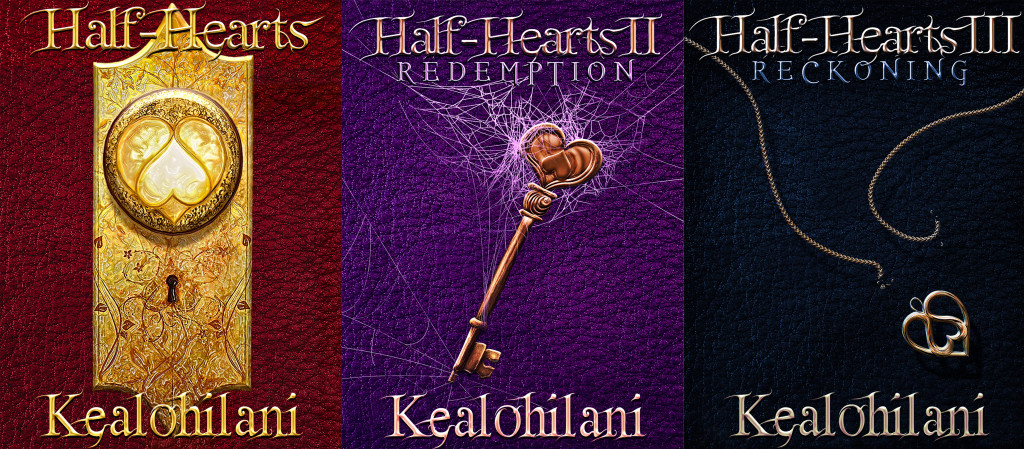 A picture of the complete set of the Half-Hearts Trilogy.